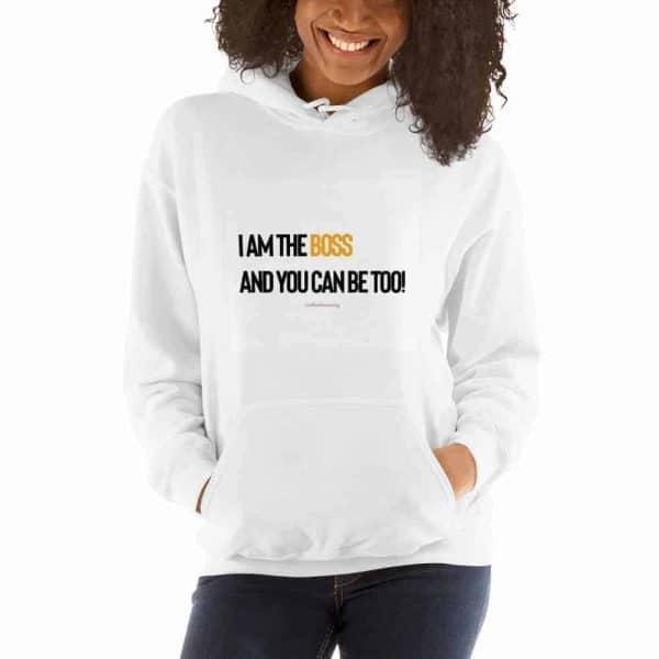 I Am The Boss Hooded Sweatshirt - Stiletto Boss University