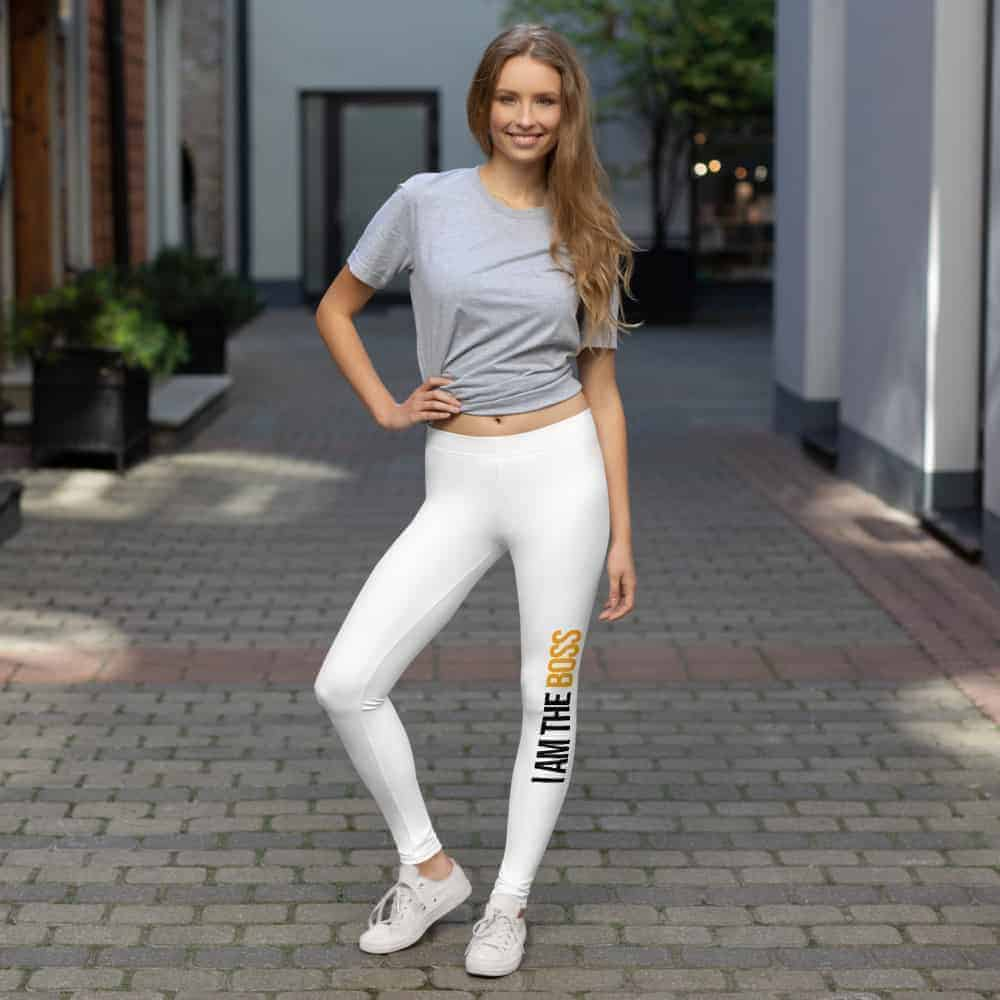 I Am The Boss Leggings - Stiletto Boss University